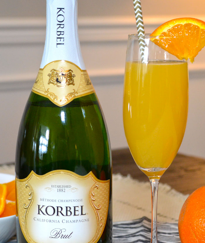 Mimosa Drink With Champagne