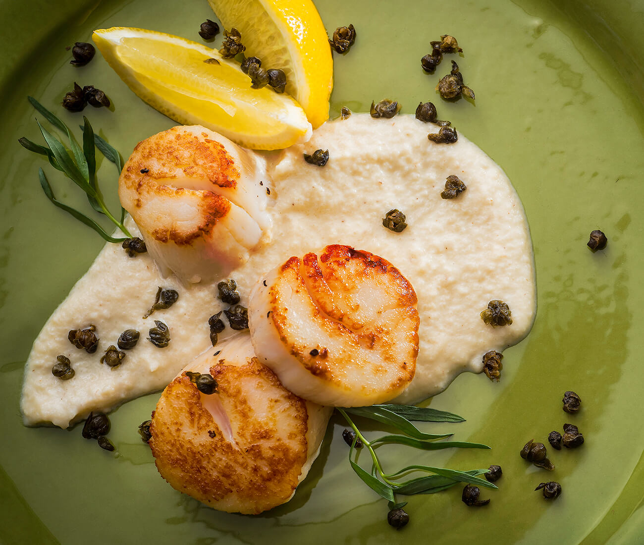 Image for Pan Seared Scallops with Cauliflower Puree