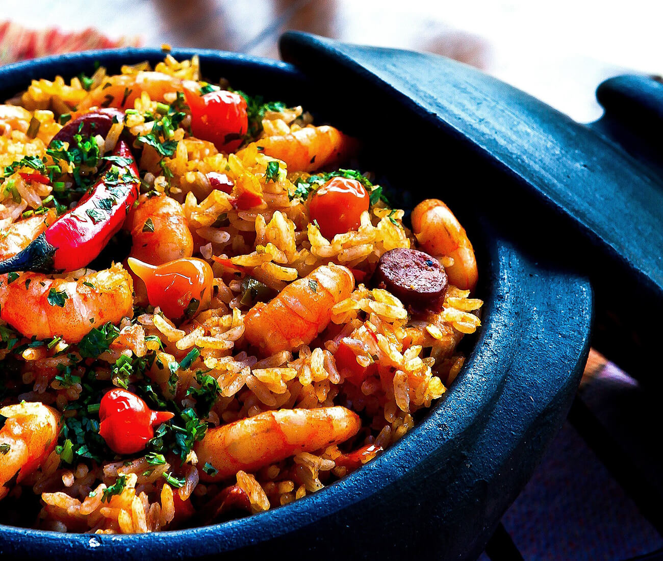 Image for Saffron Paella with Chicken, Andouille Sausage & Shrimp
